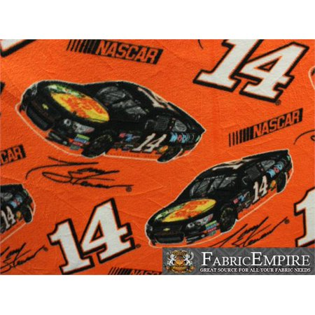 (Fleece Fabric Printed ANTI PILL NASCAR 14 BASS PRO SHOPS LICENSED)