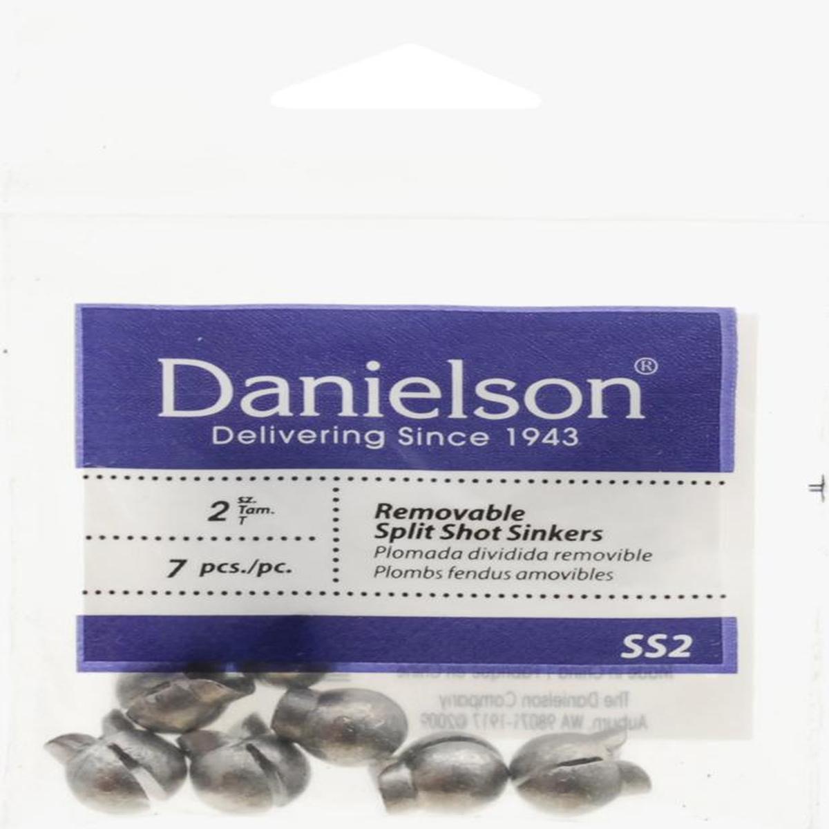 Danielson Sinker Removable Split Shot Size 2 - SS2