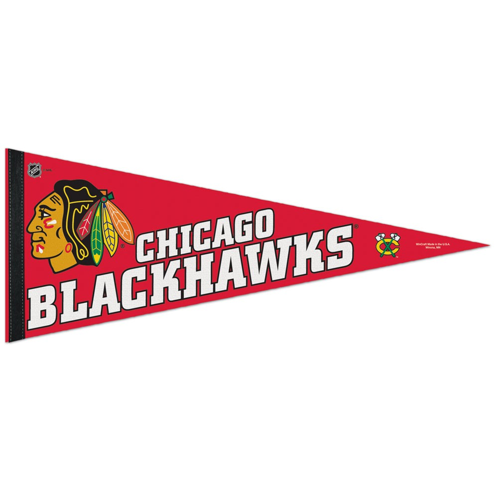 Chicago Blackhawks Official NHL 12 inch x 30 inch  Felt Pennant by Wincraft