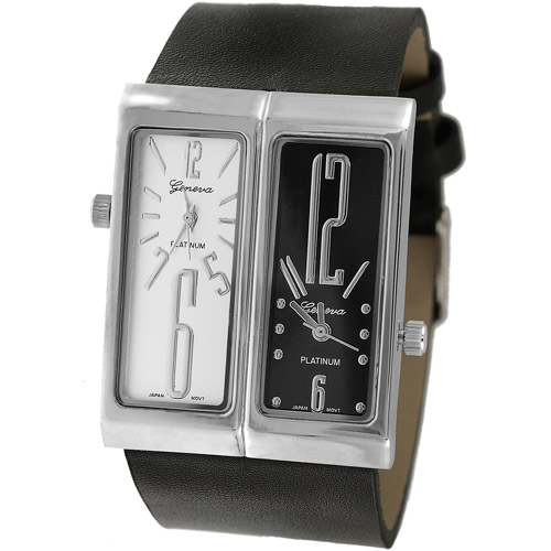 Aktion Men's Dual-Face Watch, Synthetic Leather