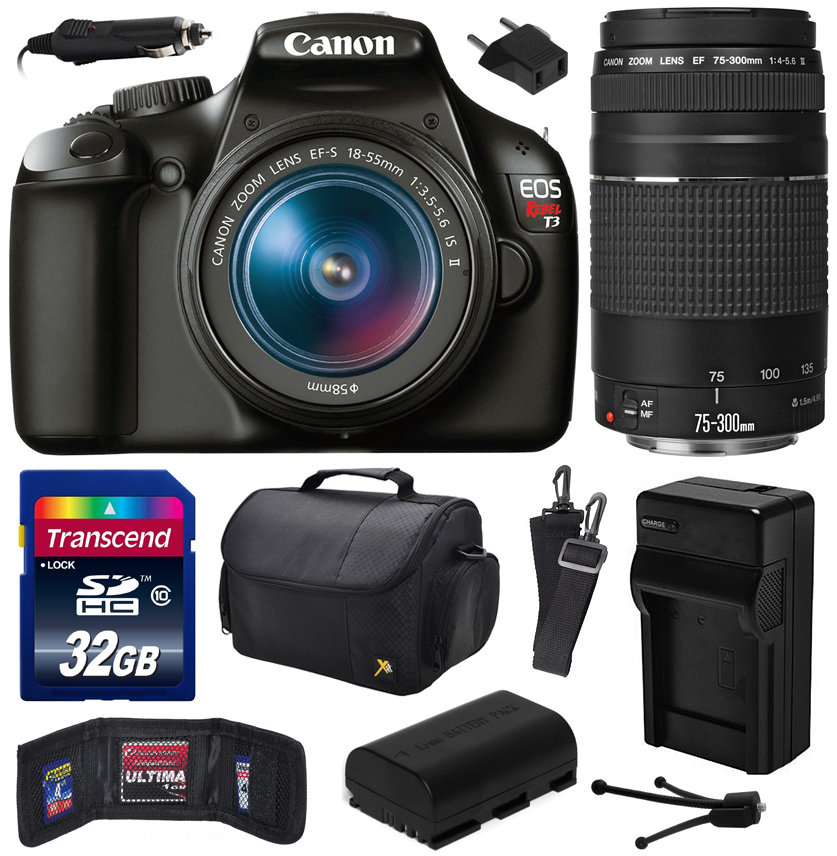 Canon EOS Rebel T3 Digital SLR Camera with EF-S 18-55mm f...