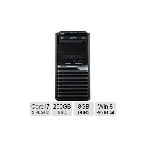 Acer Veriton M 6630G Desktop PC with Intel Core i7-4770 Processor, 8GB Memory, 250GB SSD and Windows 8 Professional (Monitor Not Included)