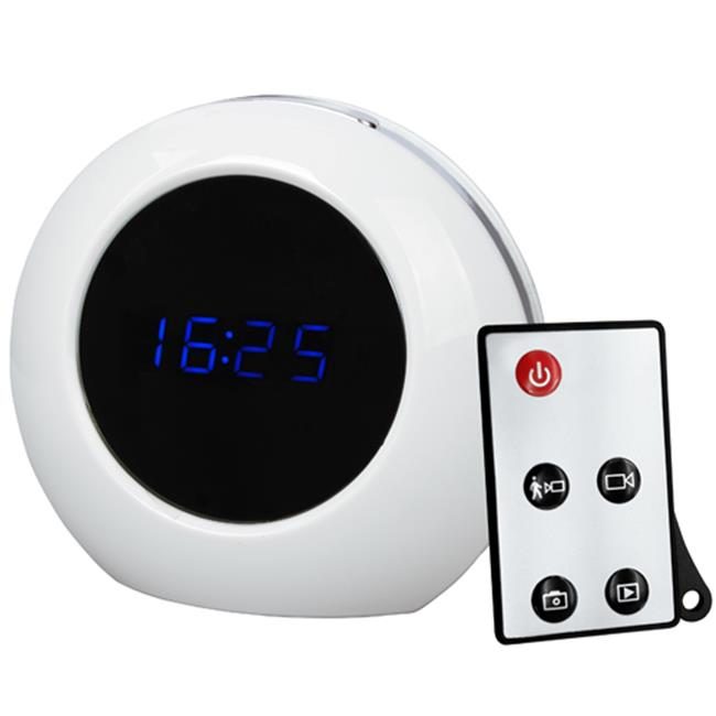 ANK Electronics B20525 Second Generation Multi Functional R And C Alarm Clock & Motion Detection Spy DVR - White