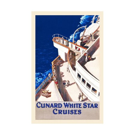 Cunard White Star Line Print Wall Art By William Howard Jarvis