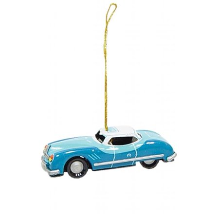 Collectible Tin Ornament - Blue Car ()