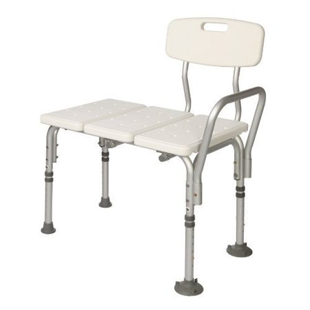 Bath Tub Replacement Shower - HEALTHLINE Tub Transfer Bench, Lightweight Medical Bath and Shower Chair with Back Non-Slip Seat, Bathtub Transfer Bench for Elderly and Disabled, Adjustable Height, White