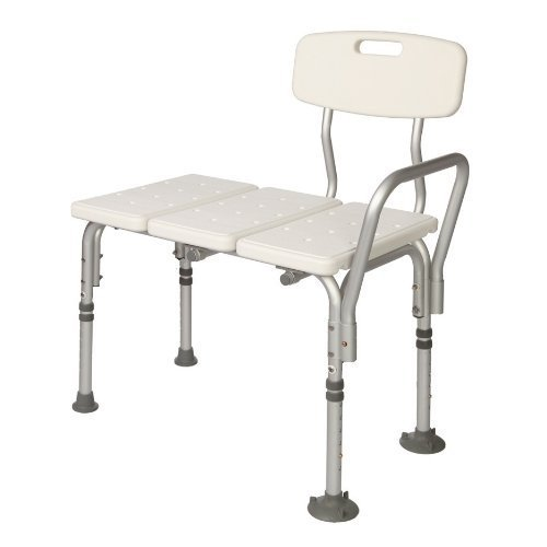HEALTHLINE Tub Transfer Bench Lightweight Medical Bath and Shower Chair with Back Non-Slip  sc 1 st  Walmart & HEALTHLINE Tub Transfer Bench Lightweight Medical Bath and Shower ...