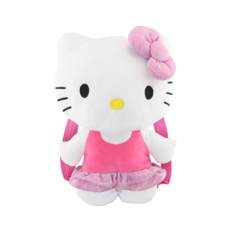 Plush Backpack Hello Kitty Pink Bling Dress New Soft Doll Toys 671867 by FAB Starpoint