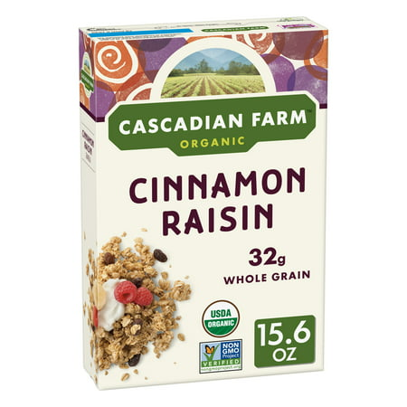 Cascadian Farms Cinnamon Raisin Organic Breakfast Cereal - 15.6oz