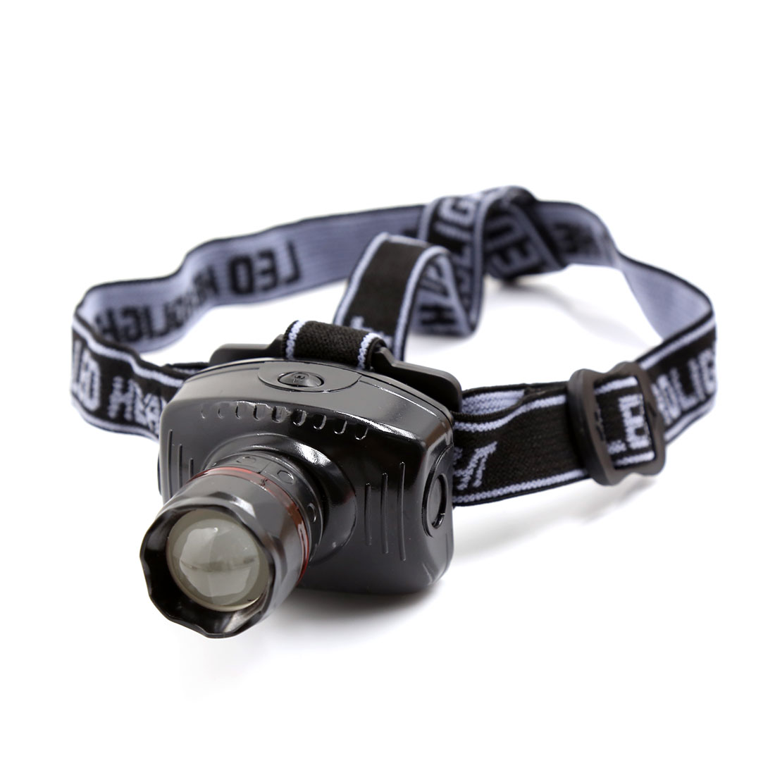 Unique Bargains Outdoor Camping Hiking Elastic Headstrap White LED Zoomable Headlight Headlamp