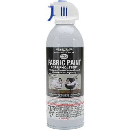 Upholstery Spray Fabric Paint 8oz-Midnight Black](Outdoor Fabric Paint)