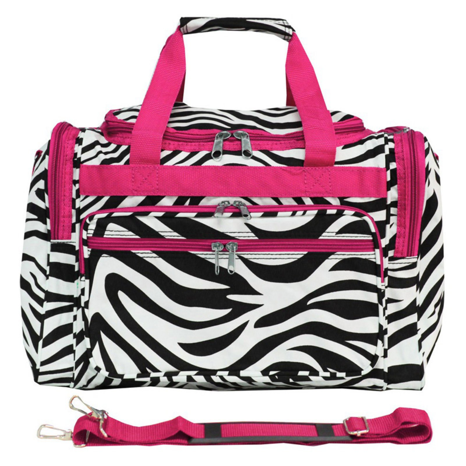 World Traveler Zebra 16 in. Shoulder Duffel Bag