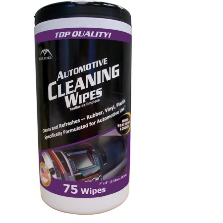 four peaks auto cleaning wipes 75 count. Black Bedroom Furniture Sets. Home Design Ideas