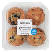 Freshness Guaranteed Blueberry Buttermilk Muffin No Sugar Added, 14 oz, 4 Count