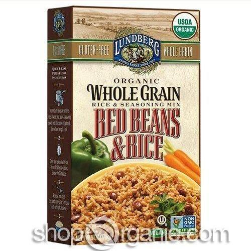 6 Pack : Lundberg, Whole Grains Red Beans And Rice Mix 6oz by