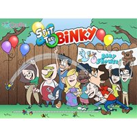 Spit the Binky Fun Baby Shower Game Pink