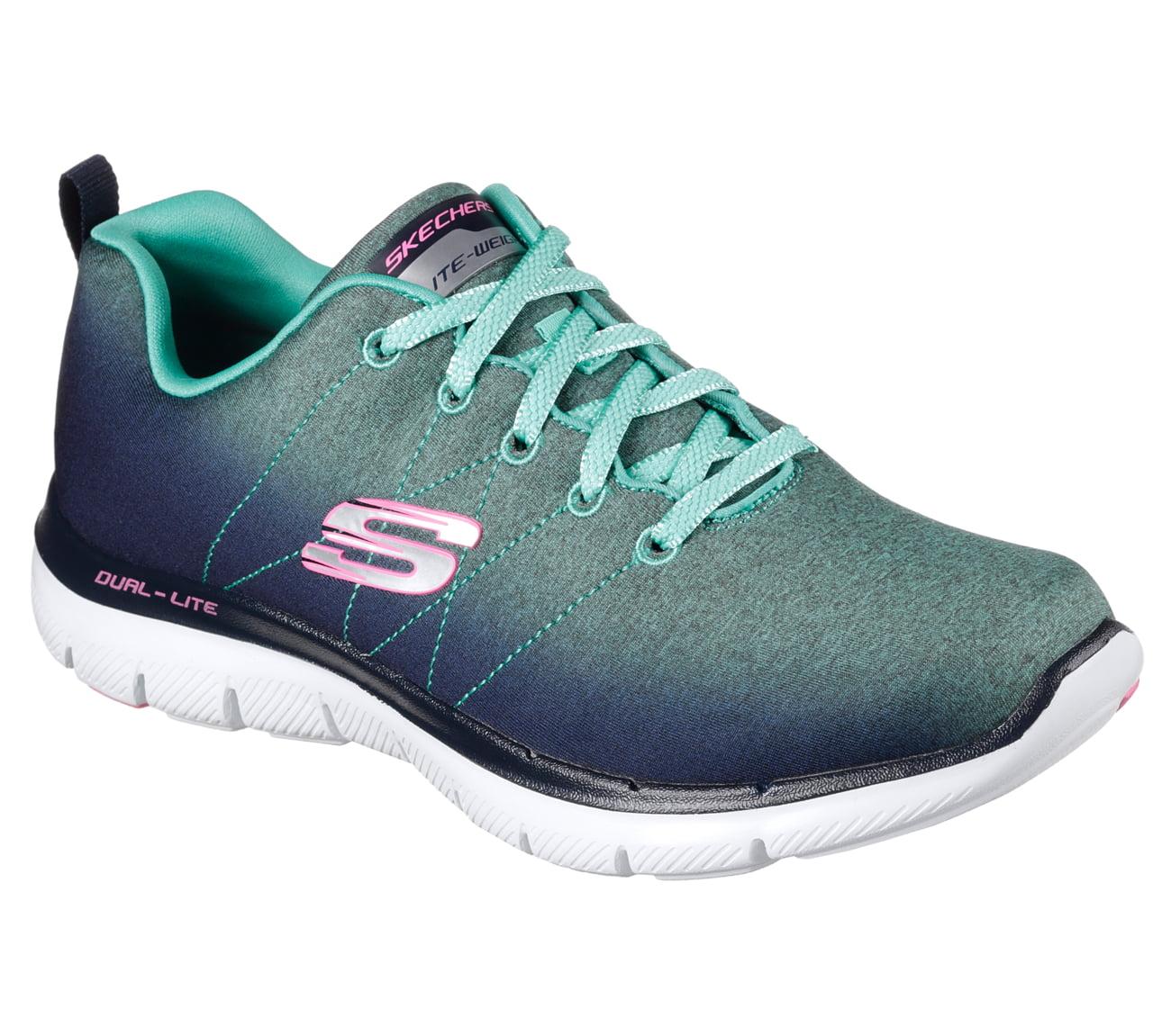 Skechers 12763NVAQ Women's FLEX APPEAL 2.0 OMBRE Walking Shoes by Skechers