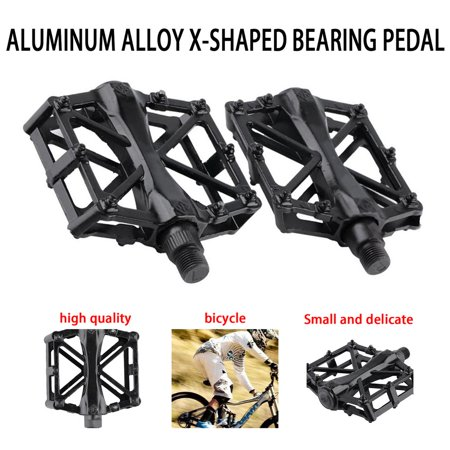 Pair Aluminum Alloy Flat Platform Bicycle Cycling Riding Pedals Treadle - image 2 of 8