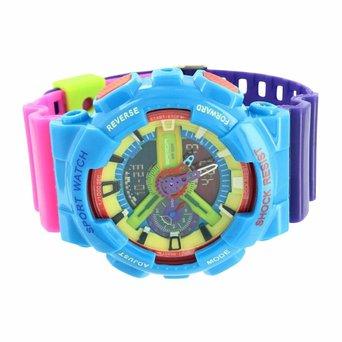 Multi Color Shock Resistant Watch Mens Unique Funky Style...