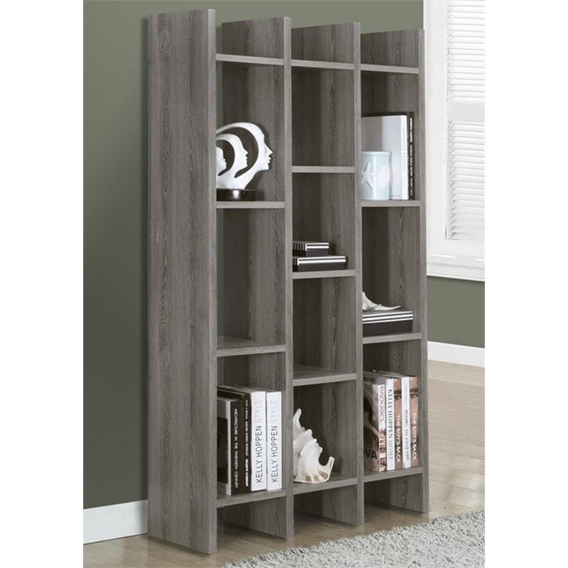 "Atlin Designs 60"" Etagere in Dark Taupe by Atlin Designs"