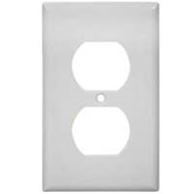 Cooper Wiring 2132W 1 Gang White Recptacle Plate, 10 Pack
