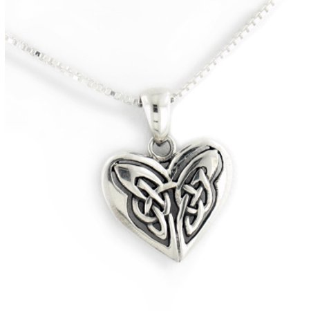 Celtic Knot Celtic Knot Eternal Heart Sterling Silver Pendant 18