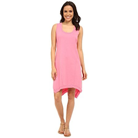 Mod-o-doc Women's French Terry Raw Edge Seamed Tank Dress Carnation Dress XS (US - Terry Dress