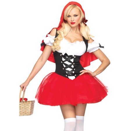 Leg Avenue Women's Racy Red Riding Hood Costume, Red/Black, X-Large (Black And Red Costumes)