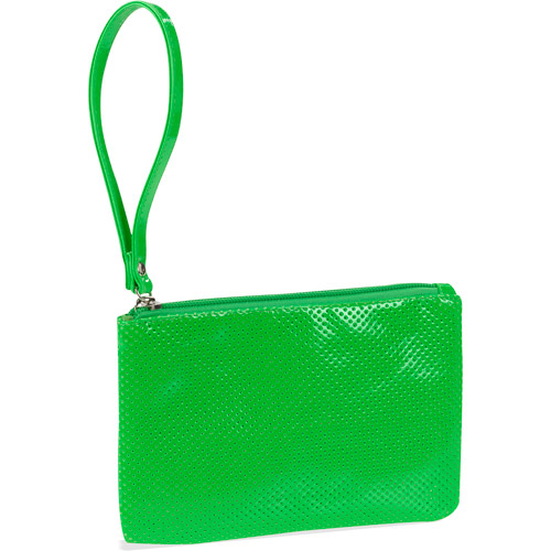 Perforated Patent Bright Wristlet