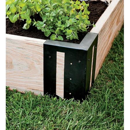 Solid steel raised garden bed corner brackets set of 4 - Raised garden bed corner brackets ...