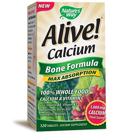 Natures Way Alive  Calcium Tablets  120 Count