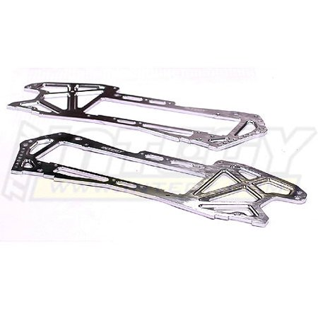Integy RC Toy Model Hop-ups T6949SILVER Alloy Chassis Plate for HPI E-Savage