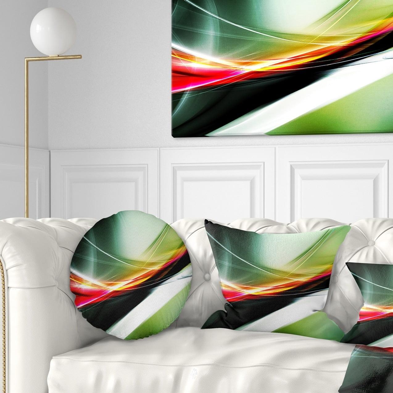 Design Art Designart Elegant Color Pattern Abstract Throw Pillow Walmart Com Walmart Com