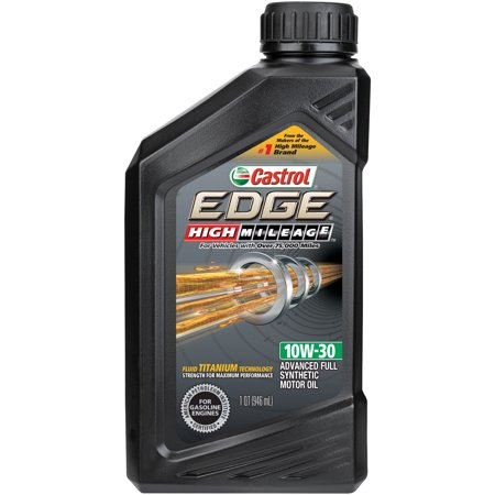 Castrol edge high mileage 10w 30 full synthetic motor oil for How to get motor oil out of jeans