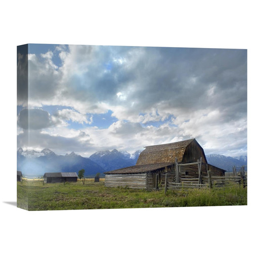 Global Gallery Nature Photographs Mormon Row Barn, Grand