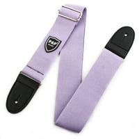 Nylon Braided Bass Belt, Adjustable Electric Guitar Strap 80-140cm Length Purple