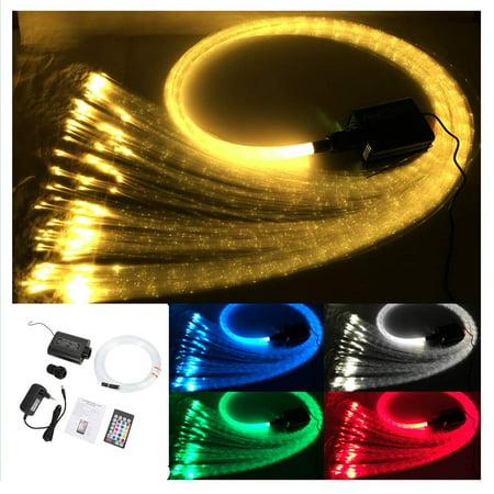 Yosoo Optic Fiber Ceiling Lamp,12W RGBW LED Optical Fiber Optic Ceiling Lamp Kit Light Engine with Remote Controller US Plug,Optic Ceiling Set,Optic Fiber Ceiling