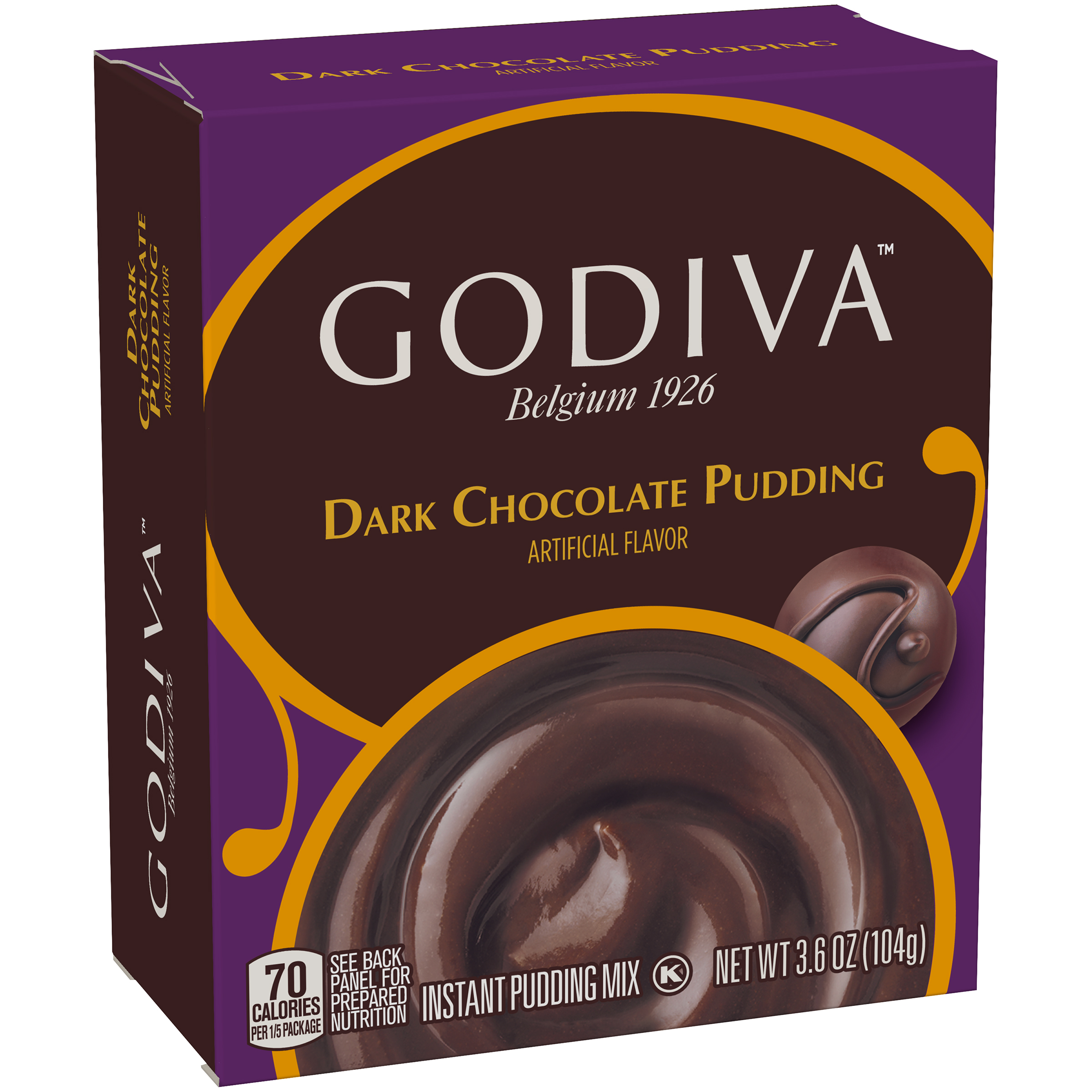 Godiva Dark Chocolate Instant Pudding Mix 3.6 oz. Box