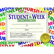 "Hayes Student of The Week Certificate, 8.5"" x 11"", Pack of 30"