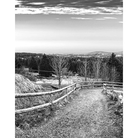 Canvas Print Road Away Landscape Mountain Resin Boulder Nature Stretched Canvas 10 x 14