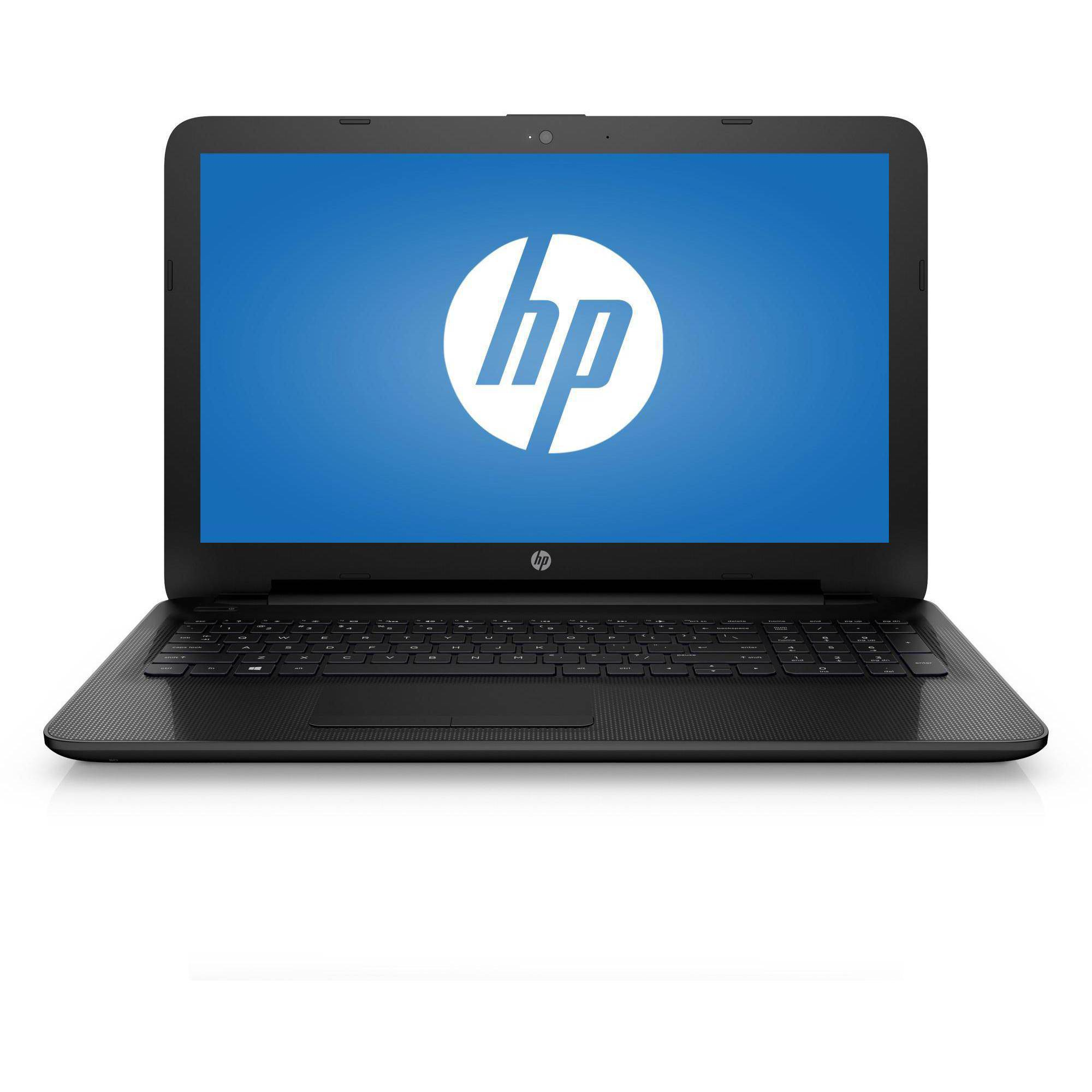 "HP Black 15.6"" 15-AC110NR Laptop PC with Intel Pentium 3825U Processor, 4GB Memory, 500GB Hard Drive and Windows 10 Home"