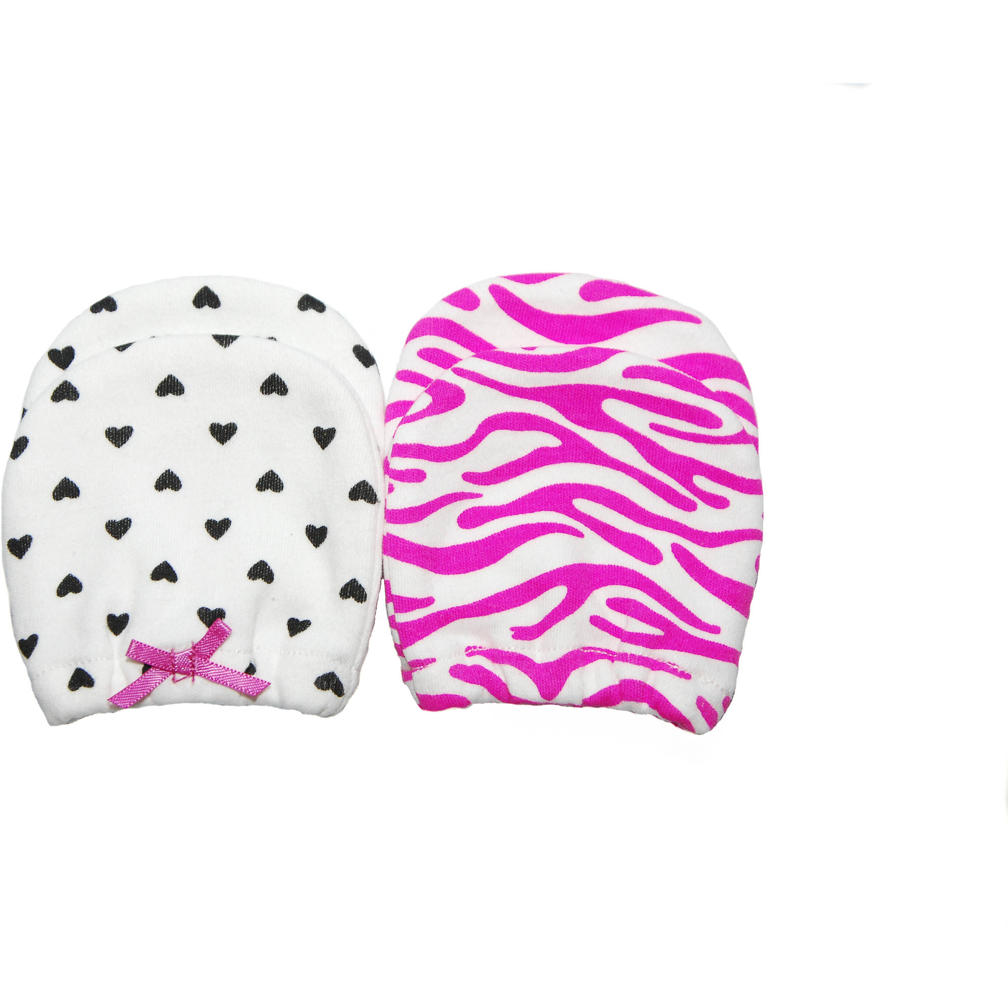 Child of Mine by Carter's Newborn Baby Girl Mittens, 2 Pack