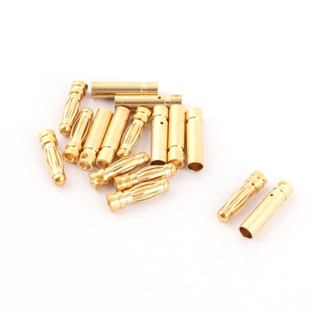 RC Motor ESC Battery 3mm Male Female Banana Plugs Connector 8 Pairs ()