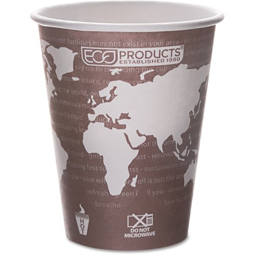 Eco-Products Hot Drink Cups, Plum, 8 oz, 50 count