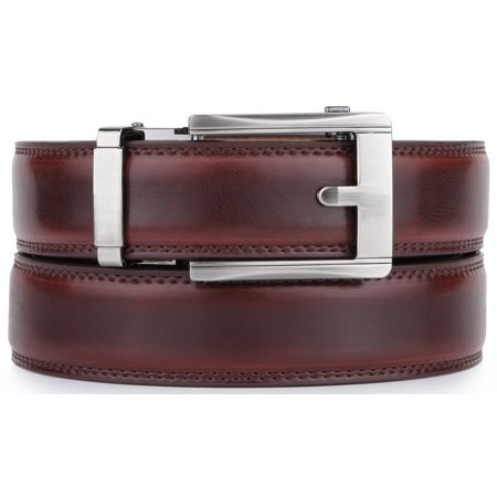 """Mio Marino Ratchet Click Belts for Men - Mens Comfort Genuine Leather Dress Belt - Automatic Buckle - Adjustable from 28"""" to 54"""" Waist"""