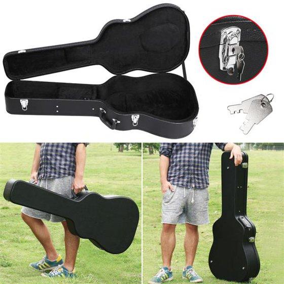 453e454d34 Yaheetech Acoustic Guitar Hardshell Case Fits Most Acoustic Guitars with Key  Lock,Black - Walmart.com