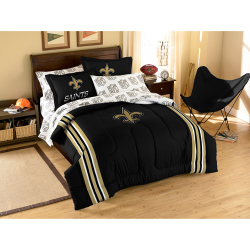 NFL Applique Bedding Comforter Set with Sheets, Saints
