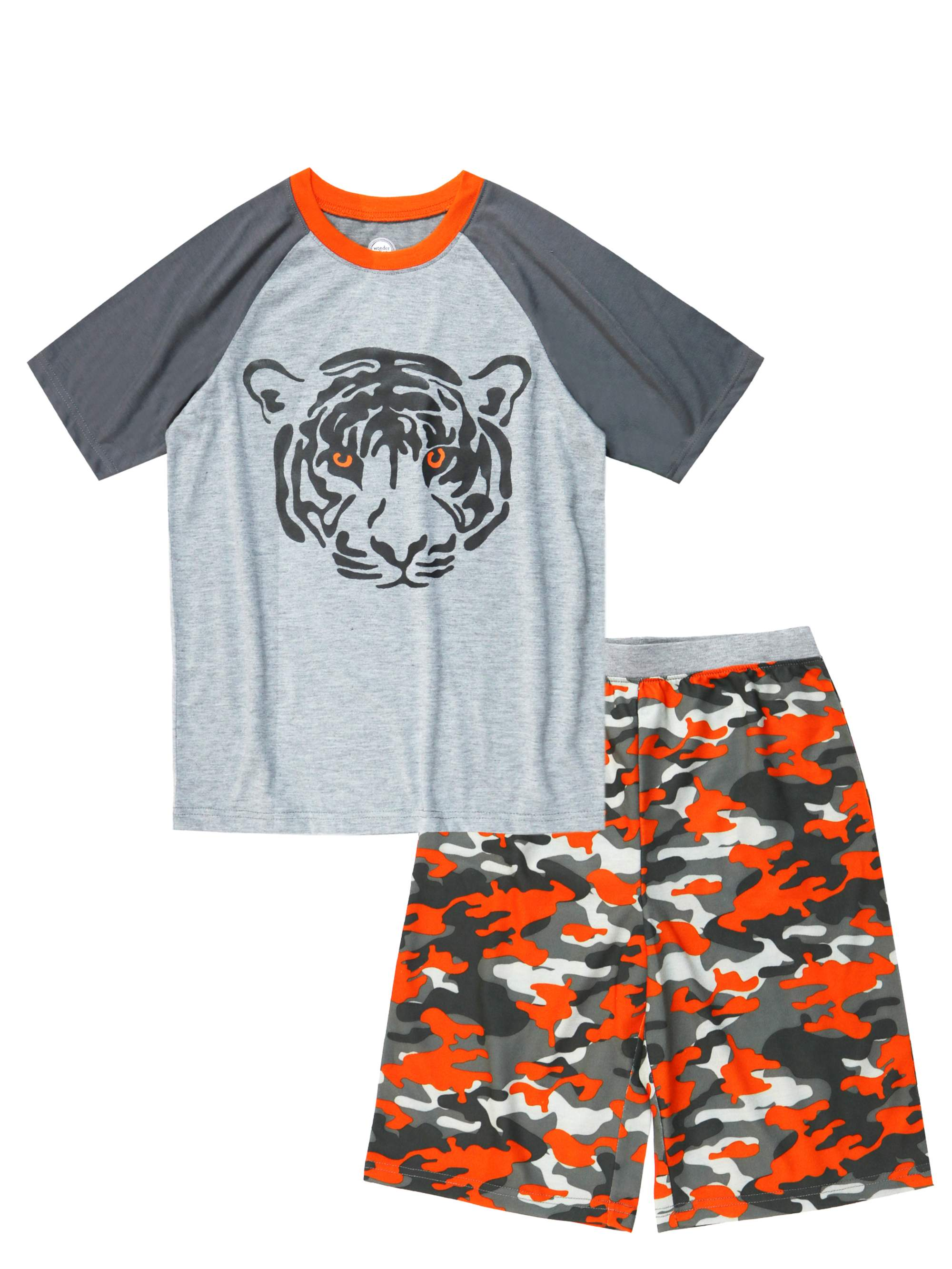 Wonder Nation Boy's 2 Piece Pajama Short Sleep Set (Big Boys & Little Boys)