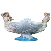 Veronese Design AP20275AA Flowerpot Mermaids and Shell Porcelain Dish