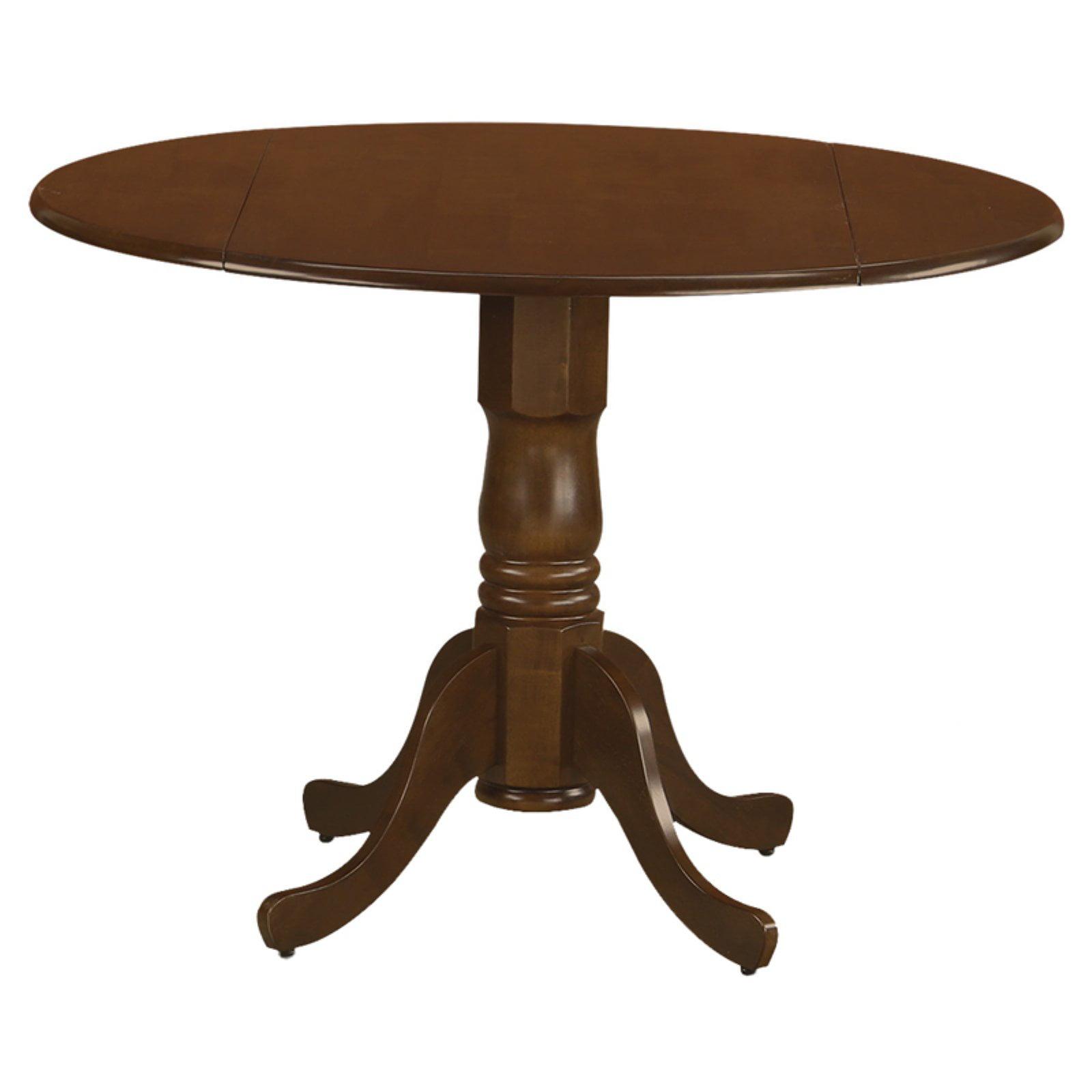 East West Furniture Dublin Round Pedestal Drop leaf Dining Table